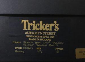 トリッカーズのサイズ表記とサイズ感について