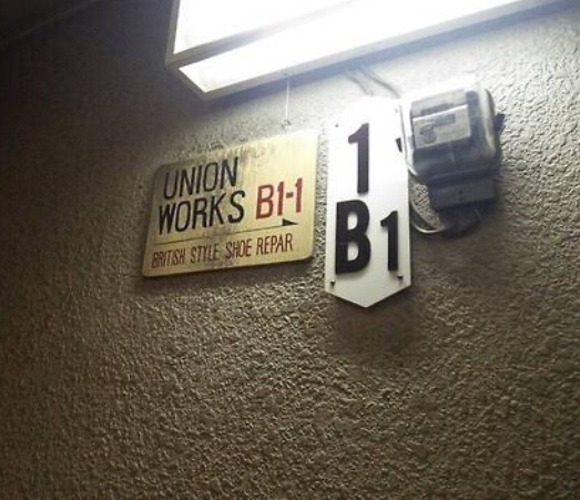 unionworks渋谷店の看板